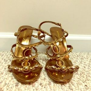 Gold BCBGeneration Sandals